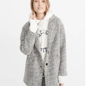 Abercrombie & Fitch Salt + Pepper Wool Jacket